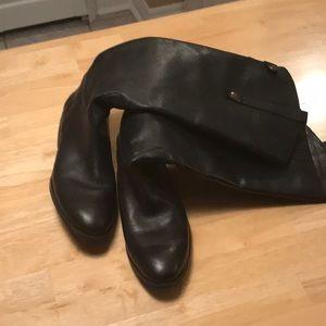 "Sam edelman black leather ""penny"" high boots"